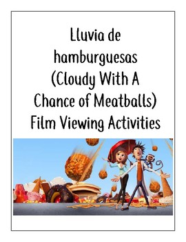 Cloudy w/ a Chance of Meatballs Spanish Film Activities