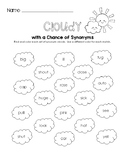 Cloudy with a Chance of Synonyms Worksheet