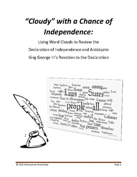Cloudy with a Chance of Independence: Word Clouds & the Dec. of Independence