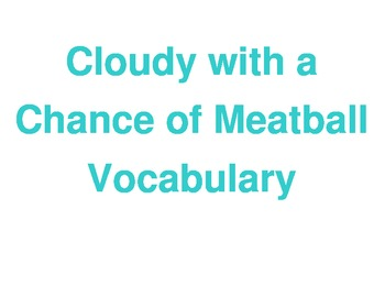 Cloudy with a Chance of Meatball Focus Wall