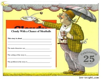 Cloudy with a Chance of Meatball graphic organizer