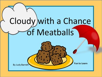 Cloudy with a Chance of Meatballs  50 pgs of Common Core Activities