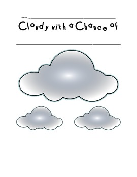 Cloudy with a Chance of Meatballs Class Book Cover and Student Page