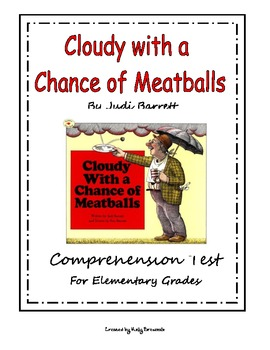 Cloudy with a Chance of Meatballs Comprehension