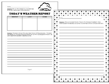Cloudy with a Chance of Meatballs- Lesson Plans, Writing, Activities