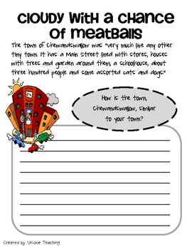 Cloudy with a Chance of Meatballs: Mini-Lesson
