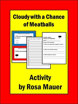 Cloudy with a Chance of Meatballs Book Unit