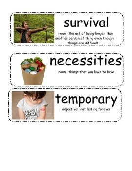 Cloudy with a Chance of Meatballs Vocabulary Cards