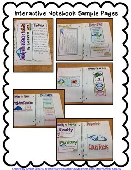 Cloudy with a Chance of Meatballs for Interactive Notebooks or Lapbook