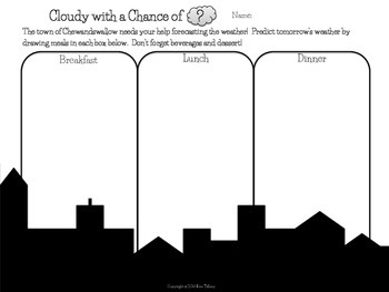 Cloudy with a Chance of ?  Post reading activity!