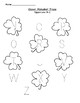 Clover A-Z Uppercase tracing worksheet