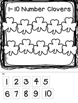 Clover Alphabet and Number Matching- St. Patrick's Day