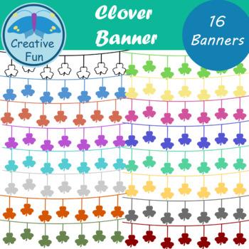 Clover Banner Clipart