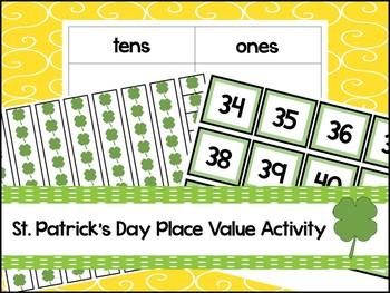 Clover Base Ten Place Value Activity. Kindergarten-2nd Grade Math.
