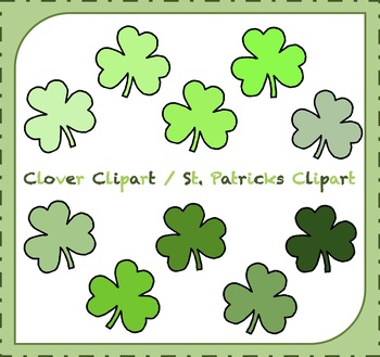 Clover Clipart / St. Patricks Clipart / Saint Patty's Day