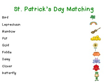 Clover, Clover What Do You See? (St. Patrick's Day Matching Book and Activity )