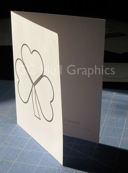 Clover Craft Card Template PDF