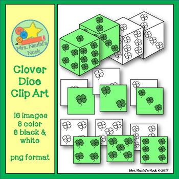 Dice Clip Art - Clover