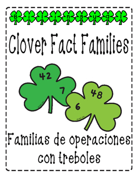 Clover Multiplication and Division Fact Families/Multiplicación con treboles