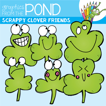 Clover Friends - Scrappy Clipart for St Patrick's Day