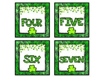 Clover Number Match Up Math Center
