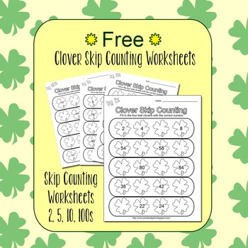 Clover Skip Counting Worksheets