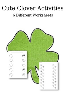 Clover Themed St. Patrick's Day Math and Language Arts 6 worksheets