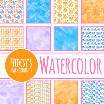 Clover or Shamrock Watercolor Digital Paper Clip Art Set Commercial Use