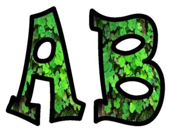 Clovers Shamrock Alphabet Bulletin Board Letters