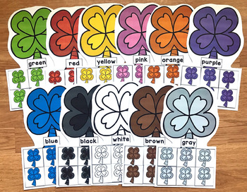 Clovers Colors Sorting Mats