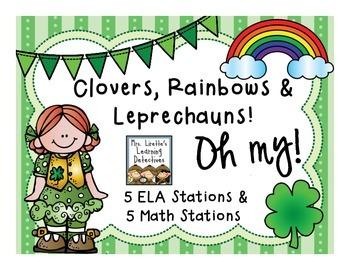 Clovers, Rainbows & Leprechauns! Oh My! {10 ELA and Math S