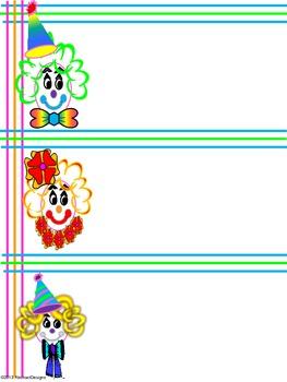 Clown Around Name Plates