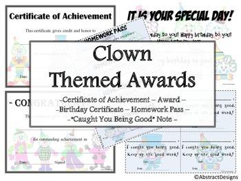 Clown Awards Set