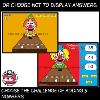 Clown Calculations - adding double digits