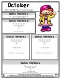 Clown - Circus Theme - Editable Newsletter Template - #60C