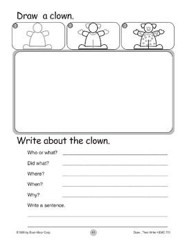 Clown (Draw...Then Write)