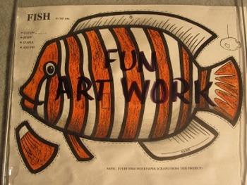 Clown Fish Mobile. Fun Two Sided 3D Craft Art