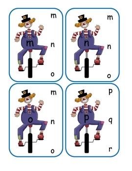 Clown Lower to Lower Clip Cards