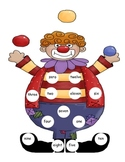 Clown Number  Word Mat 0-12
