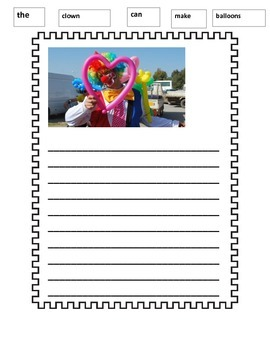 Clown Paper Writing Wall