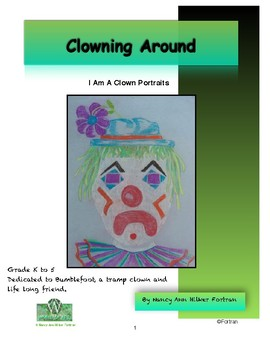 Clown Portraits Visual Arts Lesson for Kindergarten to 5th Grade
