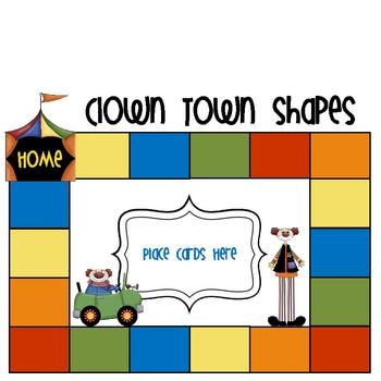 Clown Town 3D Shapes