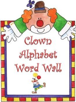 Clown Word Wall