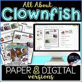 Clownfish Differentiated *DIGITAL AND PAPER* Reading Compr