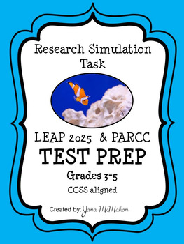 Clownfish Research Simulation Task TEST PREP for PARCC and ...