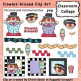 Clownin Around - Color - pers & comm use clown ice cream popcorn C. Seslar