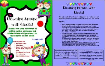 Clowning Around w/ Clocks! Order of Operations Number & Operations Activity MCC