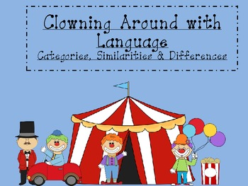 Clowning Around with Language-category sort, similarities and differences