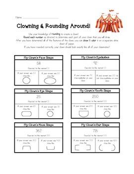 Clowning & Rounding Around! Worksheet/Activity