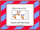 Clowns Counting to 20, Count and Clip, Kindergarten Math, Special Education Math